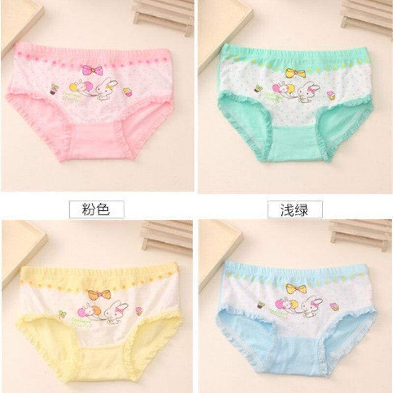 10 Teile/los Baby Mädchen Kaninchen Briefs Höschen Baumwolle Kinder Unterwäsche Mädchen Boxer Shorts Höschen Mädchen Unterwäsche 100% Hochwertige Materialien
