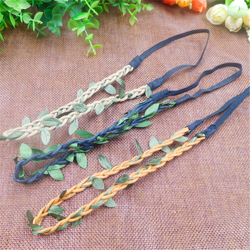 1pcs artificial finished product silk green leaf flower vine wedding decoration DIY wreaths hair carpeted decorative materials