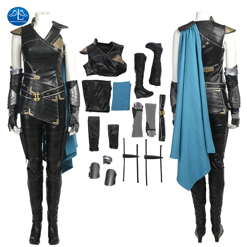 ManLuYunXiao Valkyrie Cosplay Costume Movie Thor 3 Ragnarok Halloween Costumes Full Set Outfit Custom Made