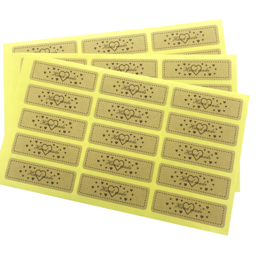 150pcs/lot Leather Love Hand Made Sealing Stickers Decorative Seal Sticker Package Adhesive Label