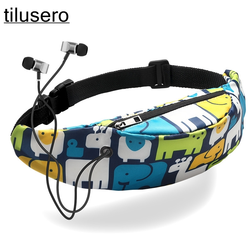 Fashion Waterproof Print Waist Bag 3D Colorful Banana Unicorn Travel  Waist Pack Hip Belt Bag Pouch Sports Bag Z114