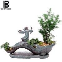 Creative Zen Style Plant Bonsai Plants Pots for Flower Ceramic Flower Pot Home Garden Planters Patio Decoration Desktop Ornament