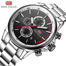 MINIFOCUS Men Watches Stainless Steel Men's Wristwatch Quartz Sport Watch Men Waterproof Luxury Brand Montre Homme Male Clock