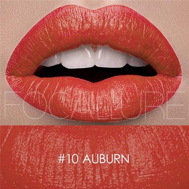 New Lipstick Brands Focallure  Lip Cosmetics Pencil Pigment 27 Color Long Lasting Matte Sexy Red Lips  Metallic Lipstick Kit 3