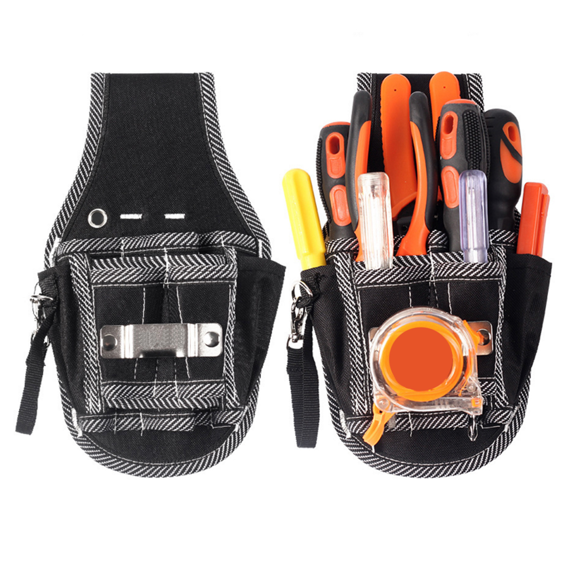 1pcs Screwdriver Pliers Organizer Holder Bag Tool Bag Nylon Pocket Electrician DIY Working Tool Pouch Bag Waist Belt