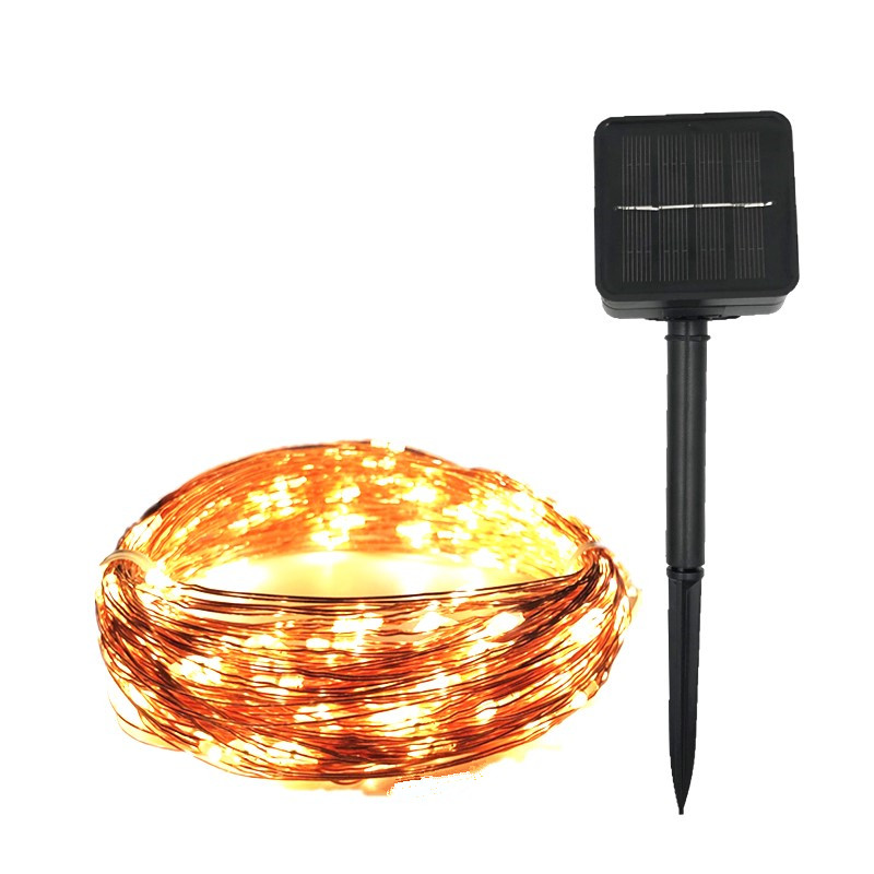 LED Solar String lamp 8 mode Waterproof Fairy <font><b>Light</b></font> Christmas <font><b>Lights</b></font> <font><b>10m</b></font> <font><b>100LED</b></font> Copper Wire Wedding Party Decor Lamp Garland image