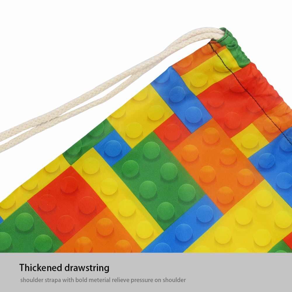 Бесшумный дизайн зеленые листья Гавайский стиль Cinch Рюкзак-мешок пляжные сумки для хранения Путешествия Мини рюкзаки для девочек шоппер сумка