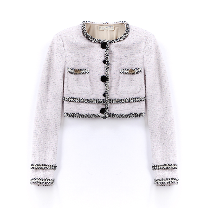 Le Palais Vintage 2017 Winter Classic Vintage Fancy Tweed Short Jacket Women Soft Touch Warm Wool Blend Lurex Decoration by Le Palais Vintage