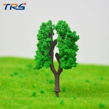 200pcs/lot Model Building Kits HO Z Scale 3cm Tree for Railroad House Park Street Layout Green landscape Trees