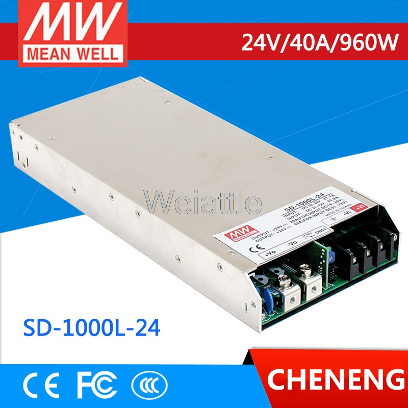 MEAN WELL original SD-1000L-24 24V 40A meanwell SD-1000 24V 960W Single Output DC-DC Converter selling hot mean well sd 350b 24 24v 14 6a meanwell sd 350 24v 350 4w single output dc dc converter