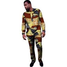 Африканське друкарське одяг під замовлення чоловіки друкують вершини + брюки анкара одяг для чоловіків футболка і брюки