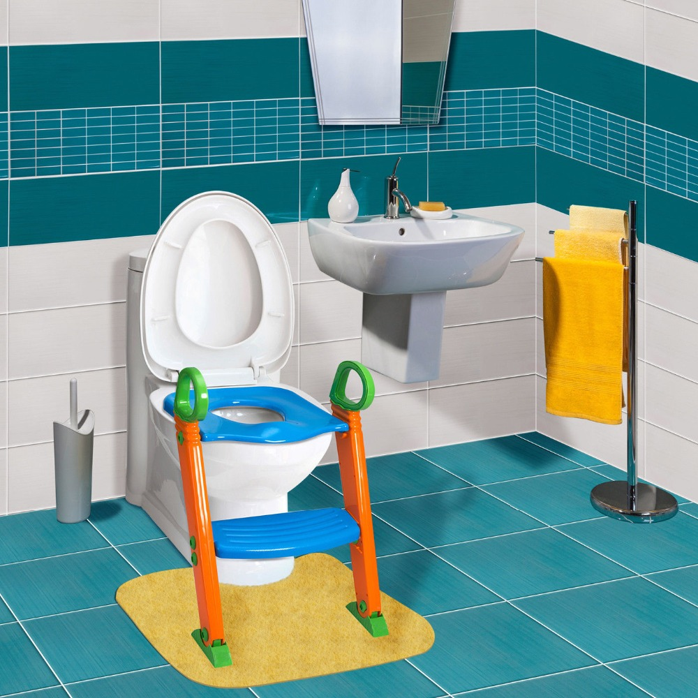 4fc8a24c2 Kids Potty Training Seat with Step Stool Ladder for Child Toddler Toilet  Chair-in Children Chairs from Furniture on Aliexpress.com