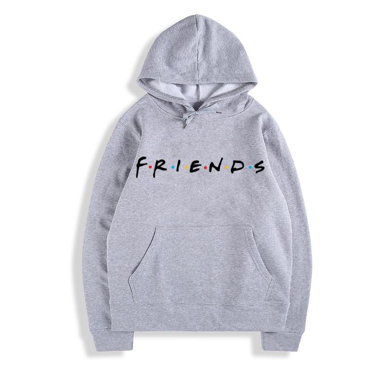 Friends Tv Show Logo Letter Alphabet Couple Clothes Boys Man Male Autumn Winter Fleece Hoodies Hoodies & Sweatshirts