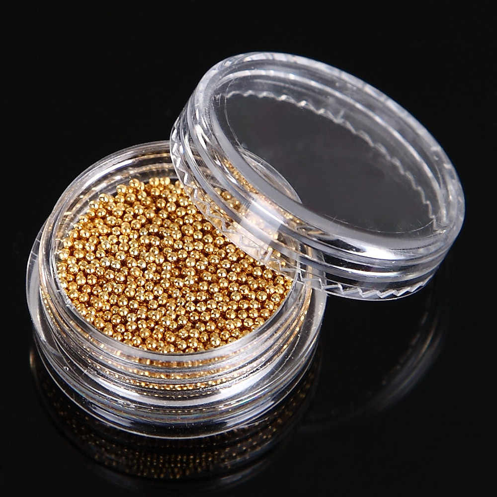 5g/Box Gold And Silver Nail Glitter Nail Beads Do Not Fade Metallic Decorat   F728