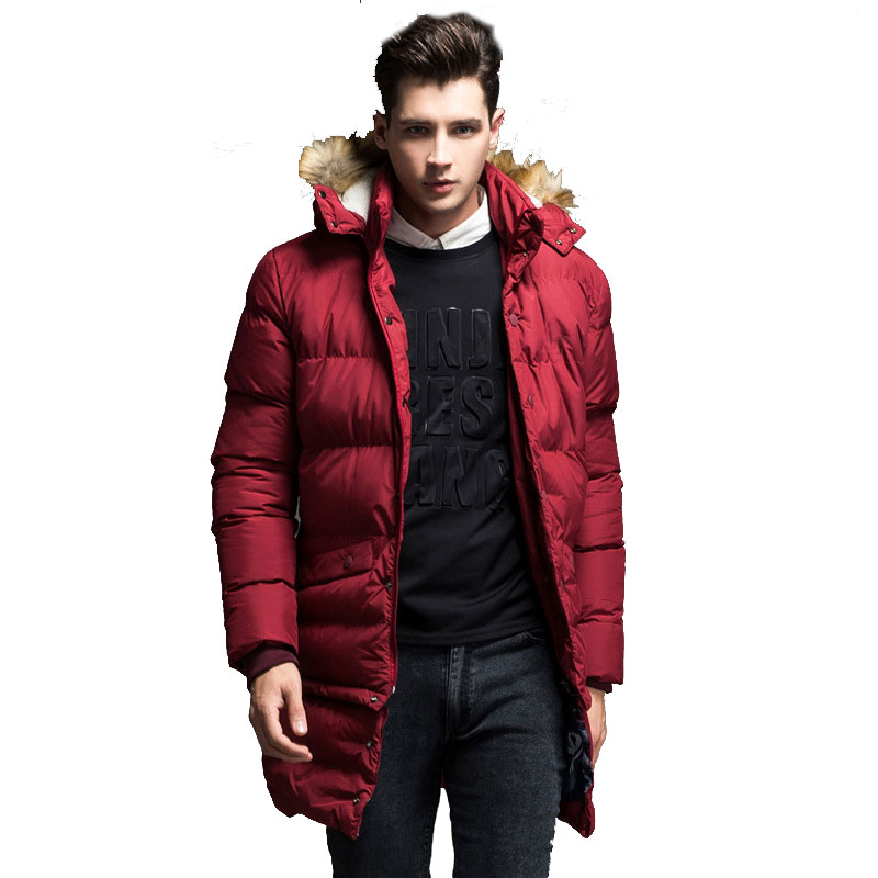 2017 New Brand Clothing Jackets Thick Keep Warm Men Jacket High Quality Fur Collar Hooded Jacket Winter Coat Male железные дороги brio железная дорога