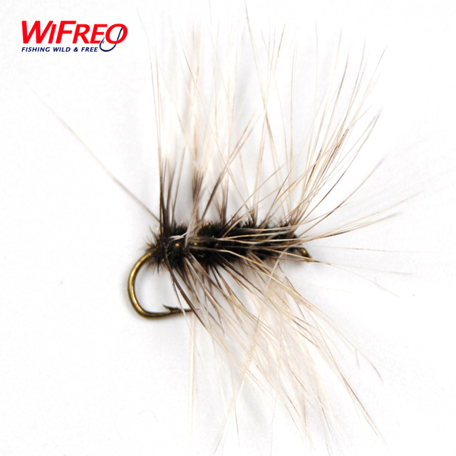 10PCS Wifreo Griffith's Gnat Fly Trout Fishing Dry Fly Size # 10