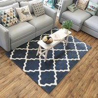 Modern style geometric gray carpet , living room coffee table carpet, rectangle ground mat , Pastoral home decoration