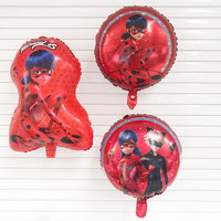 50pc cut Ladybug foil balloon inflatable Helium balloon ladybug girl globos birthday party decor kids toys supplies Air balloons