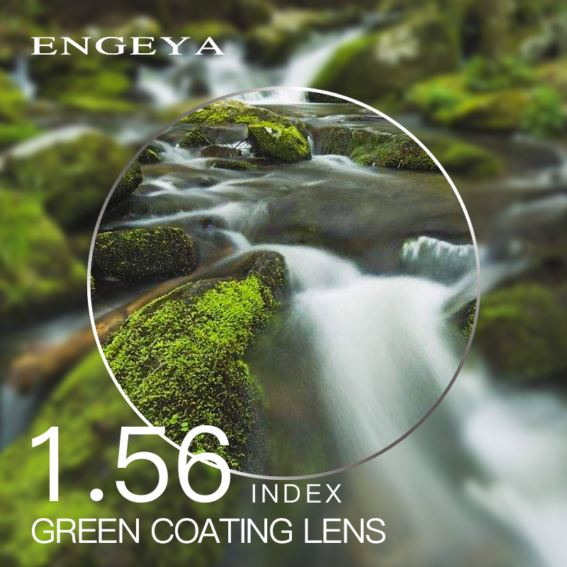 1,56 Index Rezept Linsen Harz Asphärische Gläser Linsen Für Myopie Hyperopie Presbyopie Brillen Objektiv Mit Grün Beschichtung