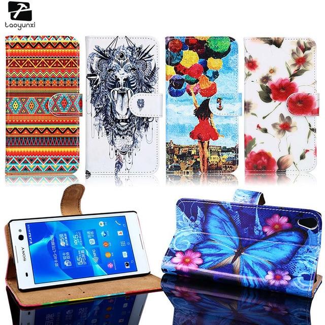 TAOYUNXI PU Leather Phone Case For Sony Xperia E5 E4 E2 E3 E F3311 F3313 E2115 E2124 D2203 D2243 C1504 C1605 Housing BagCovers