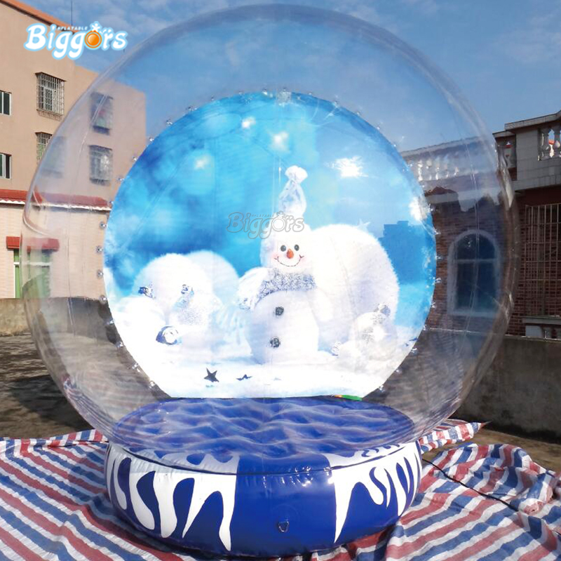 Outdoor Advertising Christmas Inflatable Snow Globe For Sale