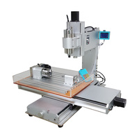 LY Column type 6040 CNC Router 1.5KW 3 4 5 axis Vertical wood metal engraving machine with rotation axis B axis