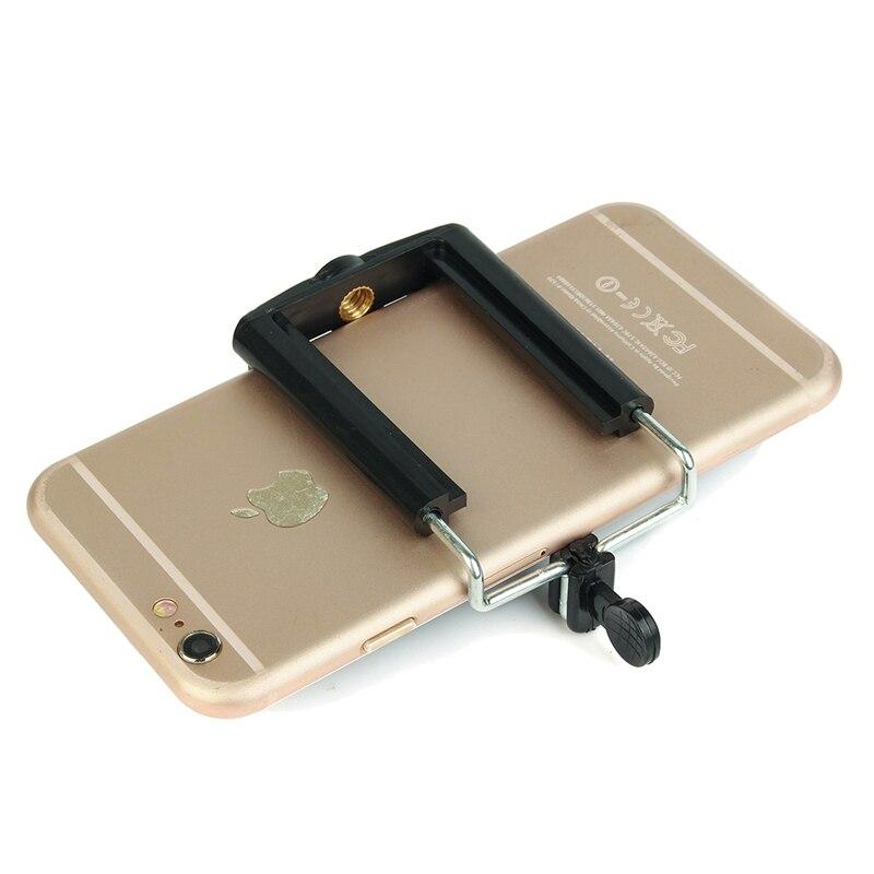10 Pcs Universal 55mm-85mm Mobile <font><b>Phone</b></font> Clip <font><b>Holder</b></font> Adapter Camera <font><b>Tripod</b></font> Monopod Bracket Mount With 1/4 Screw Thread For iPhone