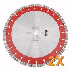 DIATOOL 2 stks 358 MM Professionele Laser gelast Hoge Turbo Diamant Zaagblad Diamant Wiel Snijden Versterkte beton Disc