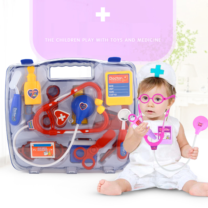 Doctor Toys Back To Search Resultstoys & Hobbies 15pcs/set Diy Pretend Play Doctor Toys Suit Medical Device Simulation Stethoscope Storage Box Gift For Children
