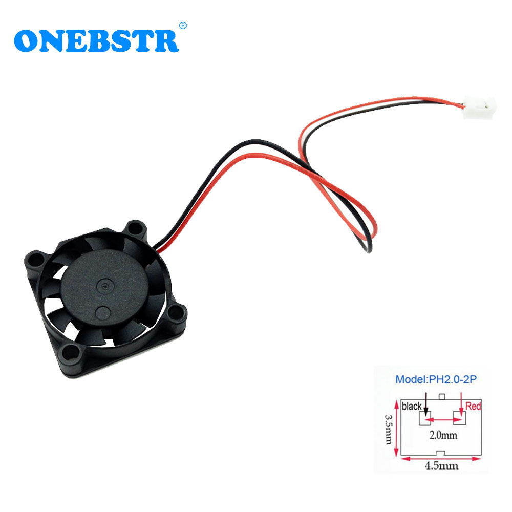 25X25X7mm Mini Fan DC 5V 2.5cm 25mm Brushless Fan Chipset Heatsink Cooling Cooler Fan 2507 PH2.0-2Pin length 150mm