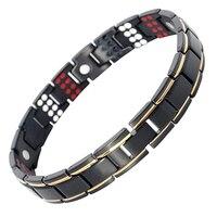 Drop Shippin109 PCS Bio Elements Energy Stone 3500 Gauss Magnetic Therapy Germanium Bracelet 4IN1 Men S