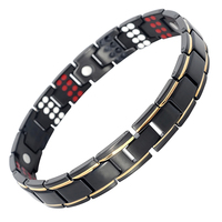 Drop Shippin109 PCS Bio Elements Energy Stone 3500 Gauss Magnetic Therapy Germanium Bracelet 4IN1 Men S