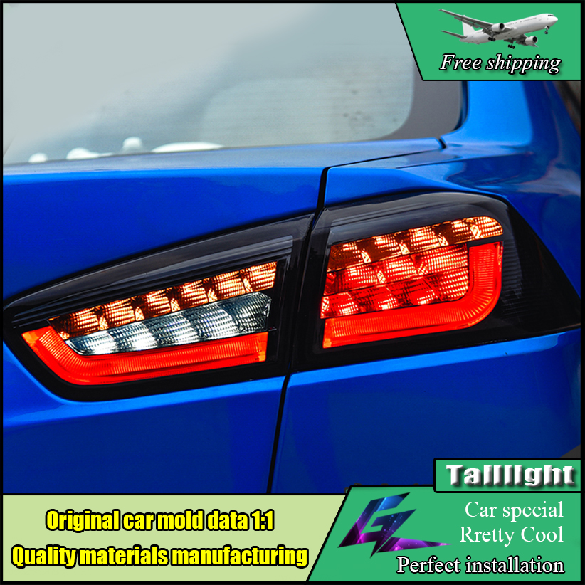 Car Styling Taillight For Mitsubishi Lancer EX Taillights 2008-2017 LED Tail Light Rear Lamp DRL+Brake+Park+Turn Signal Light car styling led tail lamp for mitsubishi lancer tail lights for lancer rear light drl turn signal brake reverse led light