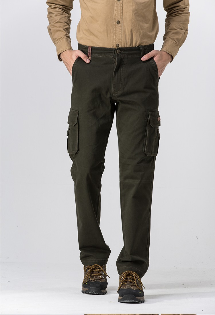 2015 Brand AFS JEEP Men New Pants Autumn Winter Cotton Cargo Casual Pants Pockets Fashion High Quality Mens Slim Pant Size 30~44 (4)