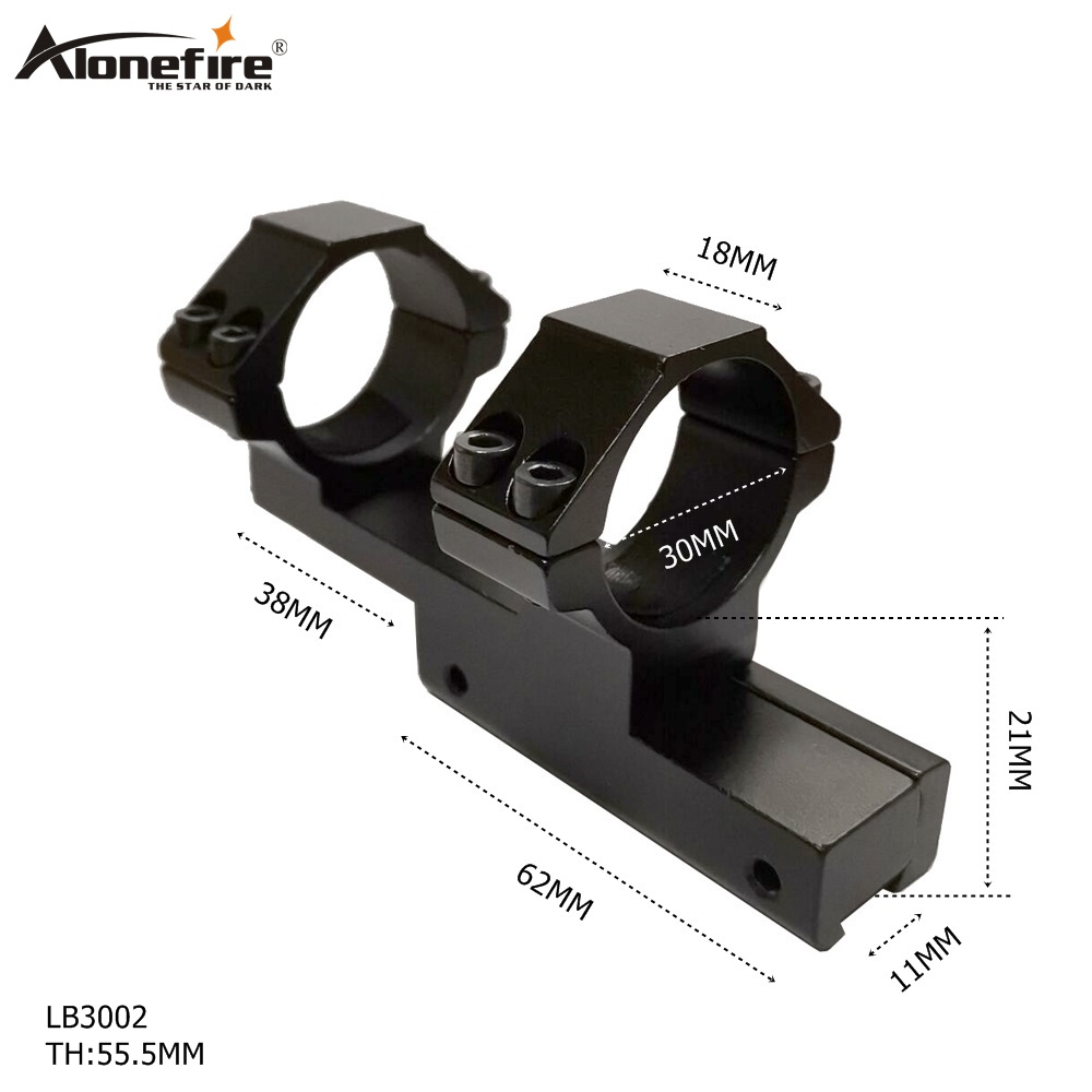 AloneFire LB3002 Dual Ring Ring Telescopic Sights Mount 30mm Picatinny For Flashlight Rifle Scope Mounts Tactical Hunting
