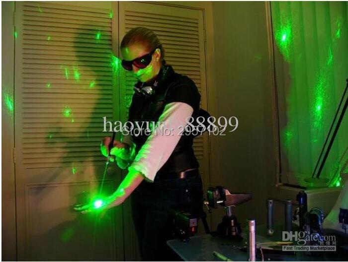 AAA USB VERT pointeur laser Logitech 10 W présentateur sans fil et avec sac IR PPT Présentateur 532nm Gros Lazer lumière enseignement