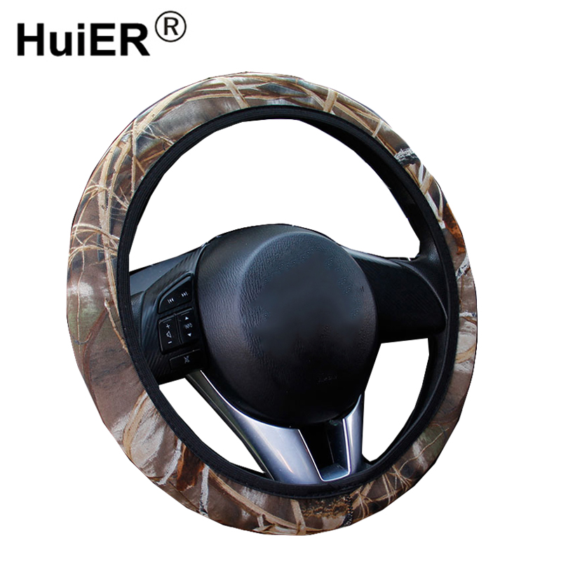 HuiER Universal Car Steering Wheel Cover Steering Cover 4 Seasons Breathable Car Styling Automobile Auto Steering Wheel Cover