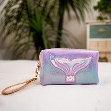 Fashion Laser Cartoon Sequin Makeup Bag Women Cosmetic Zipper Make Up Pouch Travel Toiletry Organizer Beauty Vanity Case