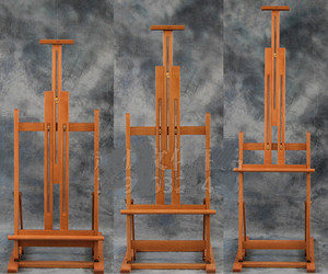 Image 2 - Multi purpose lifting oil painting easel folding sketch easel artist exhibition stand wood painting cavalete advertising  board
