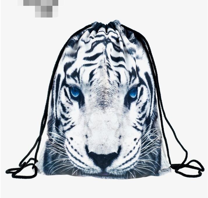 1 Stück Leopard Katze Tiger 3d Druck Rucksack Tasche Rucksack Mochila Feminina Kordelzug Tasche Schul SorgfäLtige Berechnung Und Strikte Budgetierung