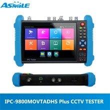 4 К 7 «IP аналоговый TVI CVI SDI AHD HDMI CCTV тестер монитора IPC-9800ADHS плюс с DC12V 3A, DC48V PoE выходная мощность, максимальная мощность 25,5