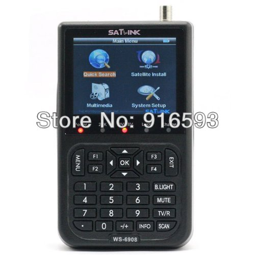 Free shipping SATlink WS-6908 Satellite Meter DVB-S FTA Professional Digital Satellite Signal Finder 3.5 inch LCD Screen, QPSK free shipping satlink ws 6908 satellite meter dvb s fta professional digital satellite signal finder 3 5 inch lcd screen qpsk
