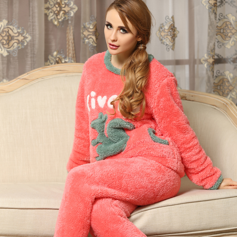 Online Shop Pajamas For Women Winter Pajamas Warm thickening ...
