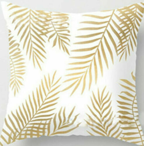 Popular Beauitiful Soft Comfortable Gold Shining Printed Polyester Throw Pillow Case  Home