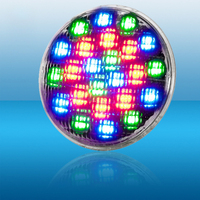 RGB Colorful Remote Control LED Light DC12V 18W 24W IP68 Waterproof Pool Light Par56 Underwater Light White Warm White Light