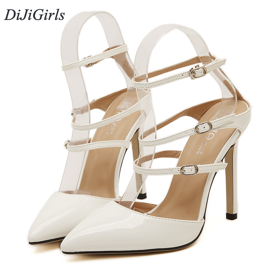 c1e9bd76a3be DiJiGirls New Summer Style women s high heels Pointed Toe Bandage Lace Up  Stiletto sandals celebrity ladies