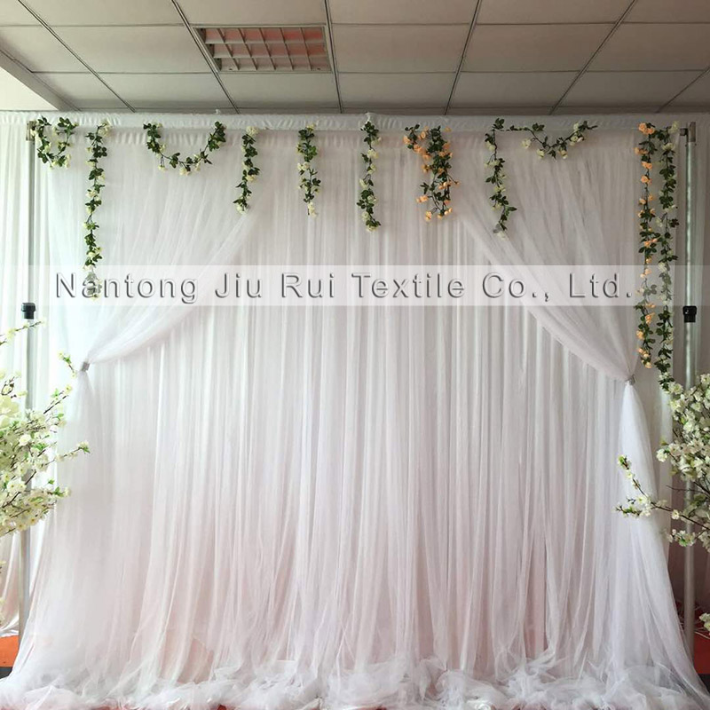1 Piece 3m 3m White Drape Ice Silk And Tulle Romantic