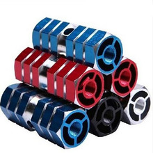 Cycling BMX socle Bike Bicycle Cylinder Aluminum Alloy 3/8″ pedal Axle Foot Pegs Rocket Bicycle Socle Free Shipping
