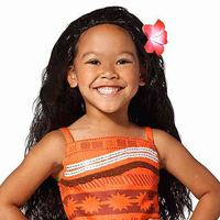 Princess Moana Cosplay Wigs With Flowers Adult Children Size Halloween Party Kids Girls Costumes Birthday Party