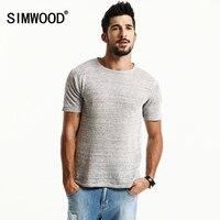 SIMWOOD Nagelneue Sommer Kurzarm T shirts Männer 2018 100% reinem Leinen Fashion Tees Plus Größe O hals Kleidung TD1171